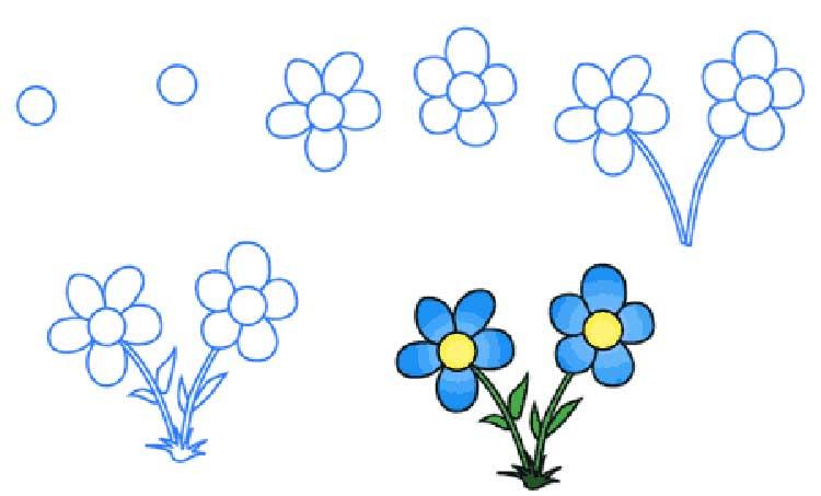 Нарисовать цветы